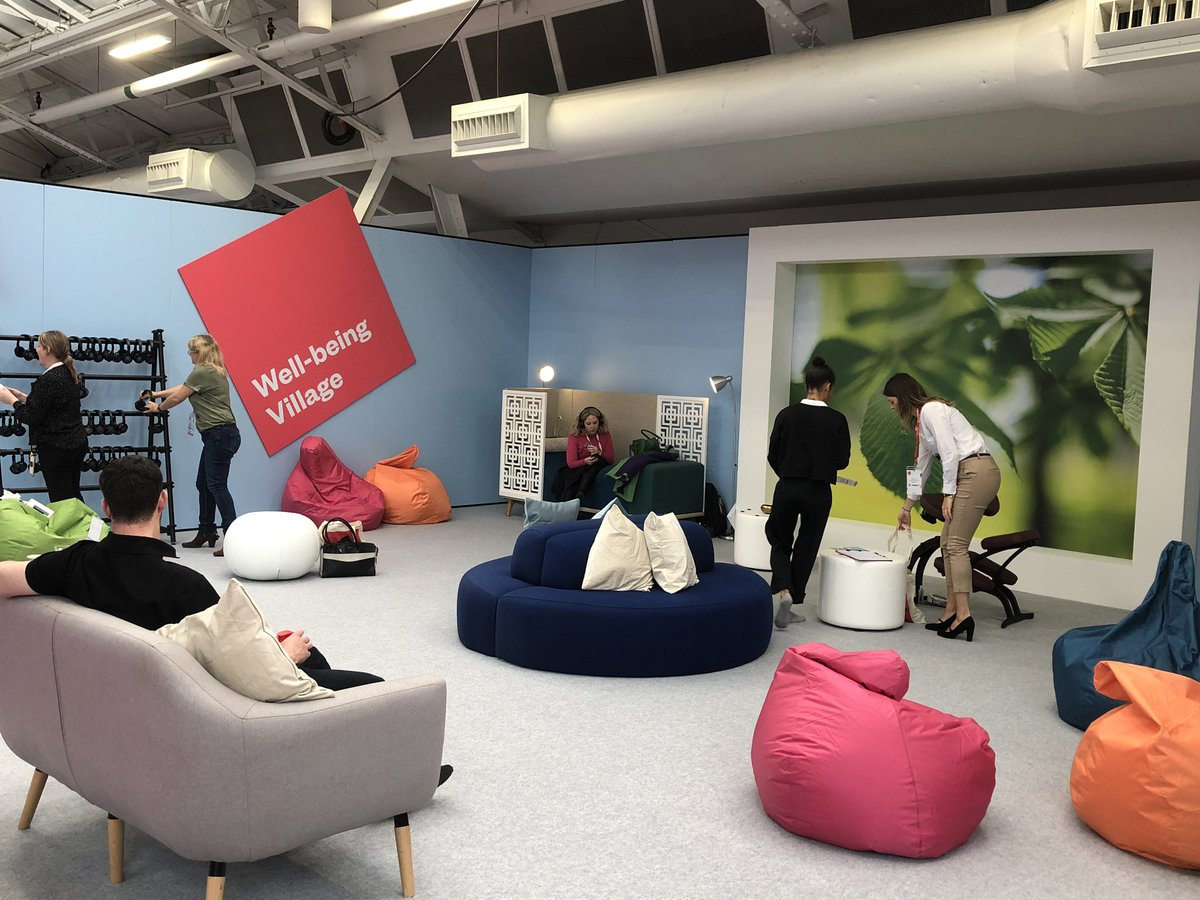 Loving the new @CIPD #FestivalofWork creative and well-being areas. Lots of places to reflect as well as receive. Nice work with our partners @Haymarket_Media