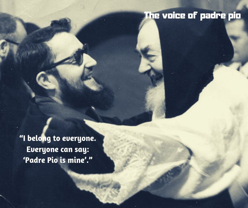 """""""I belong to everyone. Everyone can say: 'Padre Pio is mine'."""" (St. Padre Pio) #12giugno <br>http://pic.twitter.com/IiiQ7LaMm8"""