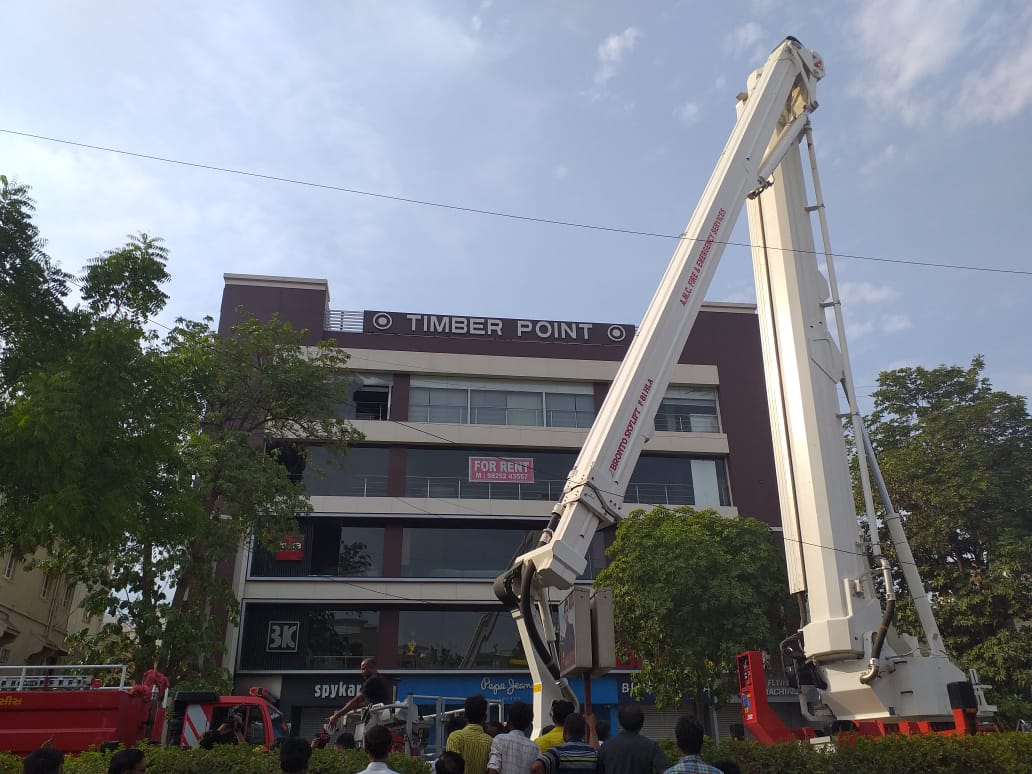 Fire in commercial building in Prahaladnagar area of Ahmedabad, more than 200 rescued safely
