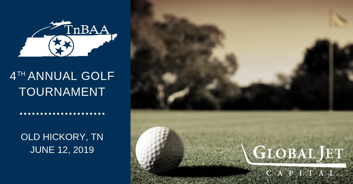 Today is the @TennBAAs 4th Annual Golf Tournament in Old Hickory, TN. Catch Hannah Davis and Justin Gaeta on the course showing their support. #bizav #aviation