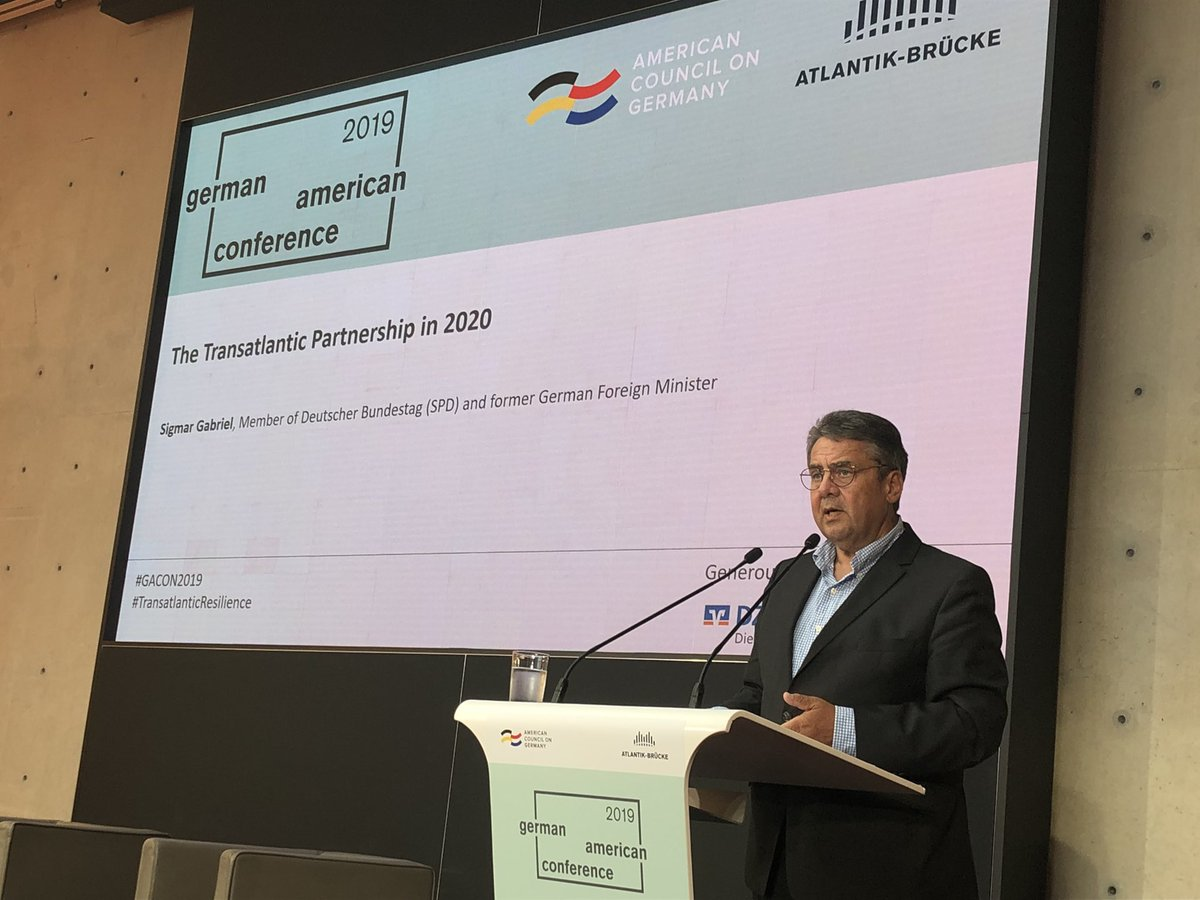 The United States has friends and allies - this has been a condition for their success for many decades, says @sigmargabriel at #GACON2019 #TransatlanticResilience @Atlantik-Brücke
