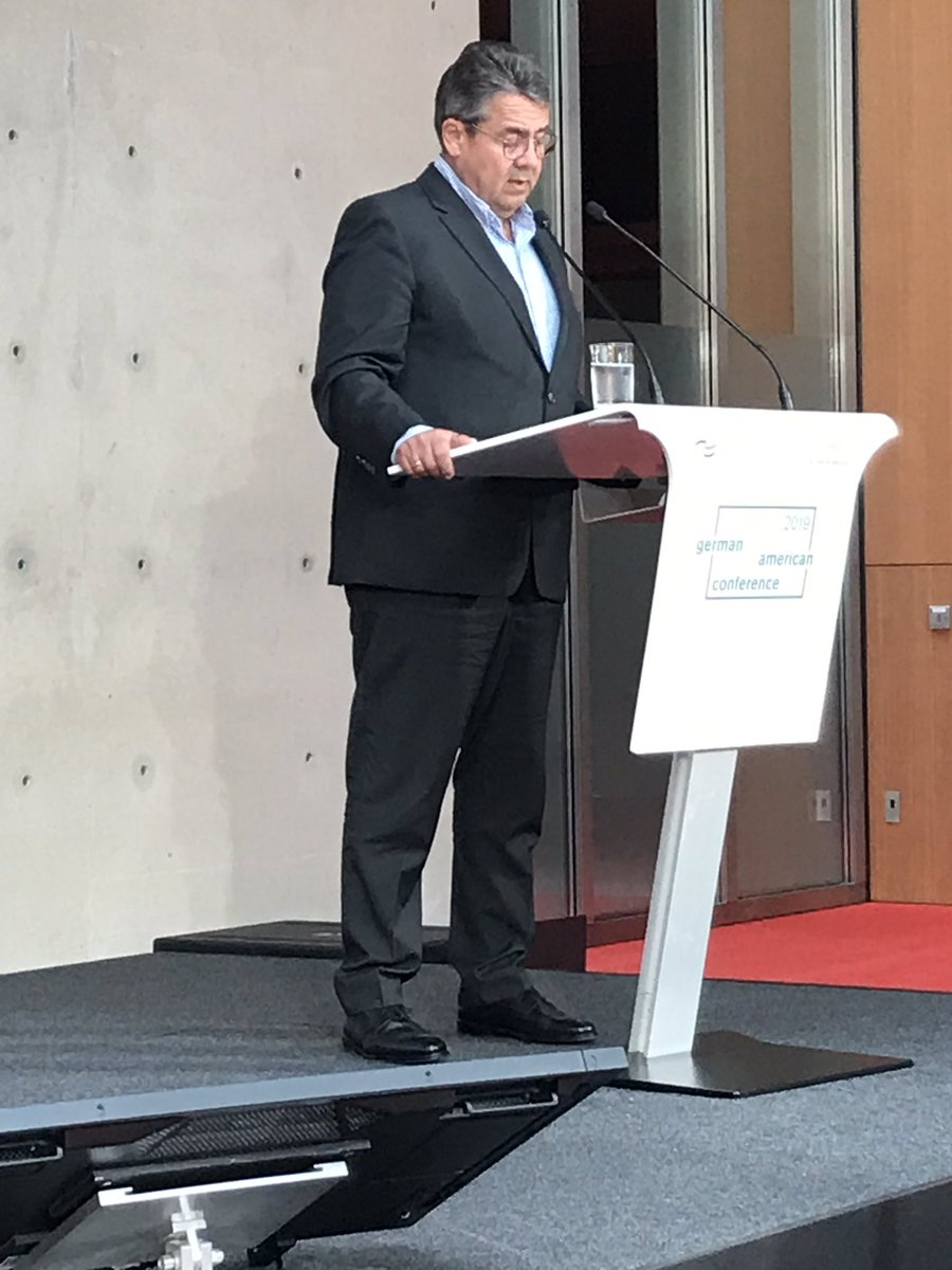 @sigmargabriel #GACON2019: We Europeans are looked at as the last vegetarians in a world of carnivores. Europa is in a danger of losing geopolitical significance. #TransatlanticResilience