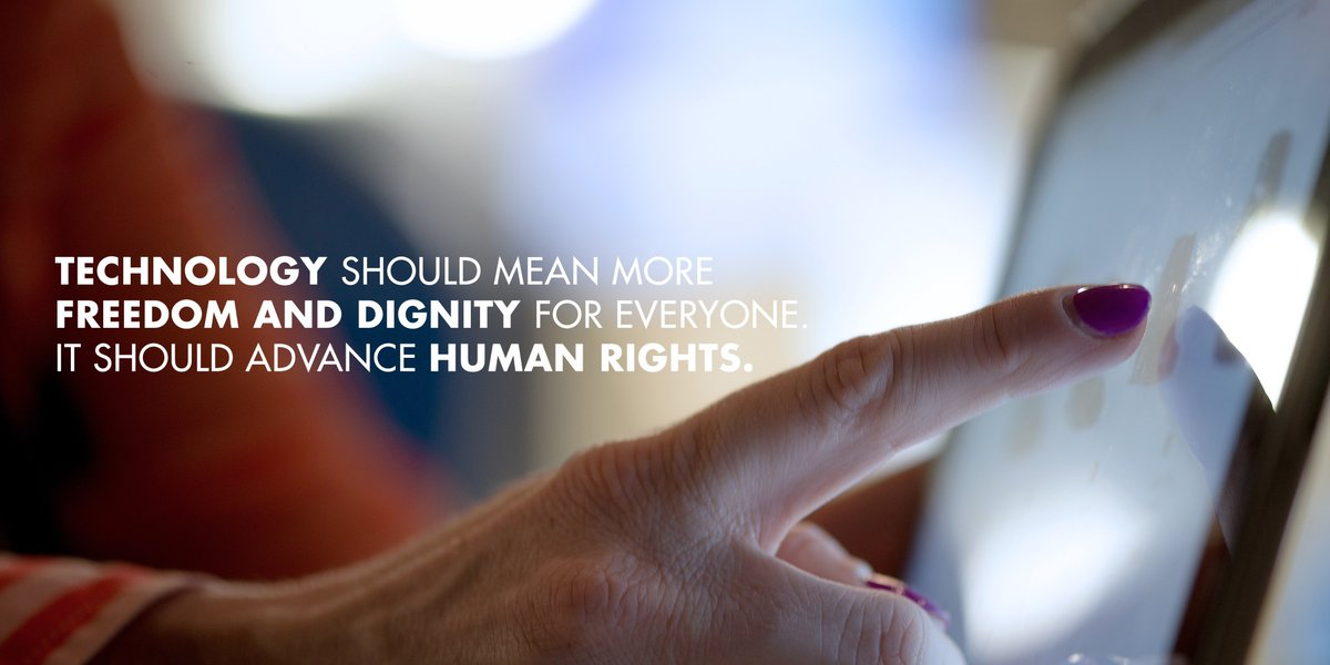 #RightsCon focuses on the complex & challenging #technology-related questions facing all human beings in coming years. We need more heroes to #StandUp4HumanRights. New technology needs to increase freedom, well-being & dignity for everyone – @mbachelet.👉http://ow.ly/gMXT50uCgjh