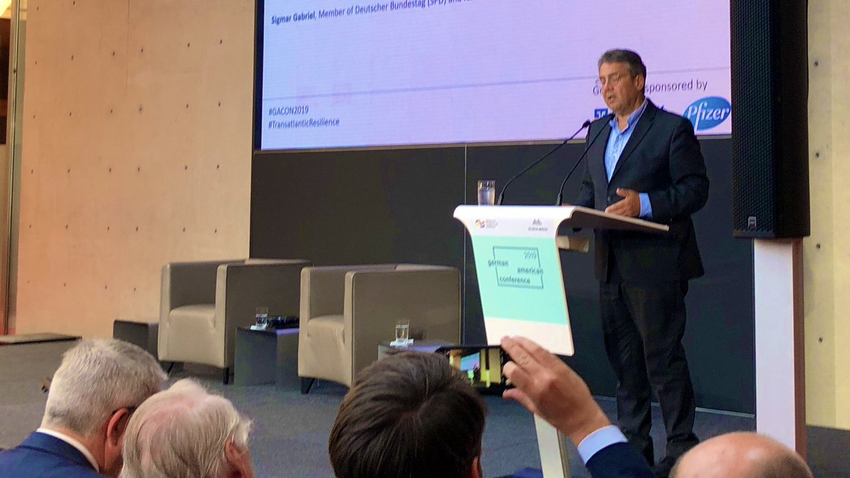 If we don't wake up to the new realities, we are at risk of becoming geo-irrelevant. Europeans are the last geopolitical vegetarians & are too comfortable in this role. We need to become flexitarians, @sigmargabriel #GACON2019 #TransatlanticAlliance