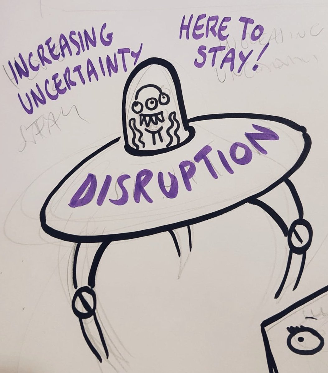 Is disruption the new change? Check out the emerging graphic in the West Hall. @CIPD @FestivalofWork #FestivalofWork #realtimegraphics #graphicrecording #graphicfacilitation
