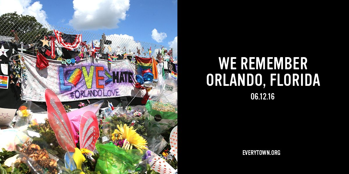 3 years ago today, 49 people were shot and killed & more than 50 were injured by a hate-filled gunman at #Pulse, an LGBTQ+ nightclub in Orlando, FL. Today, we remember the victims, unite with the survivors, and pledge to continue fighting for a world free from hatred. #DisarmHate