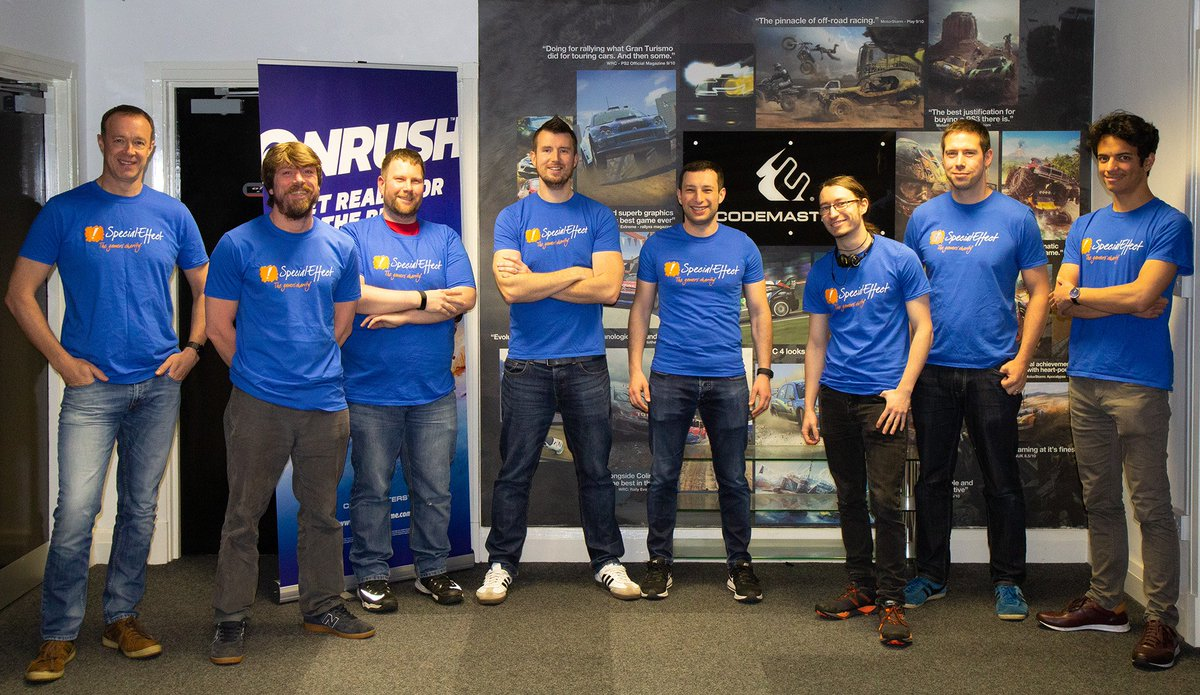A group of our Codemasters Cheshire team are taking part in Manchester's Rough Runner event this weekend, to raise money for the amazing @SpecialEffect 👏 ❤️  Want to support the team this weekend and make a donation? Check out their JustGiving page: https://justgiving.com/fundraising/codemasterscheshire…