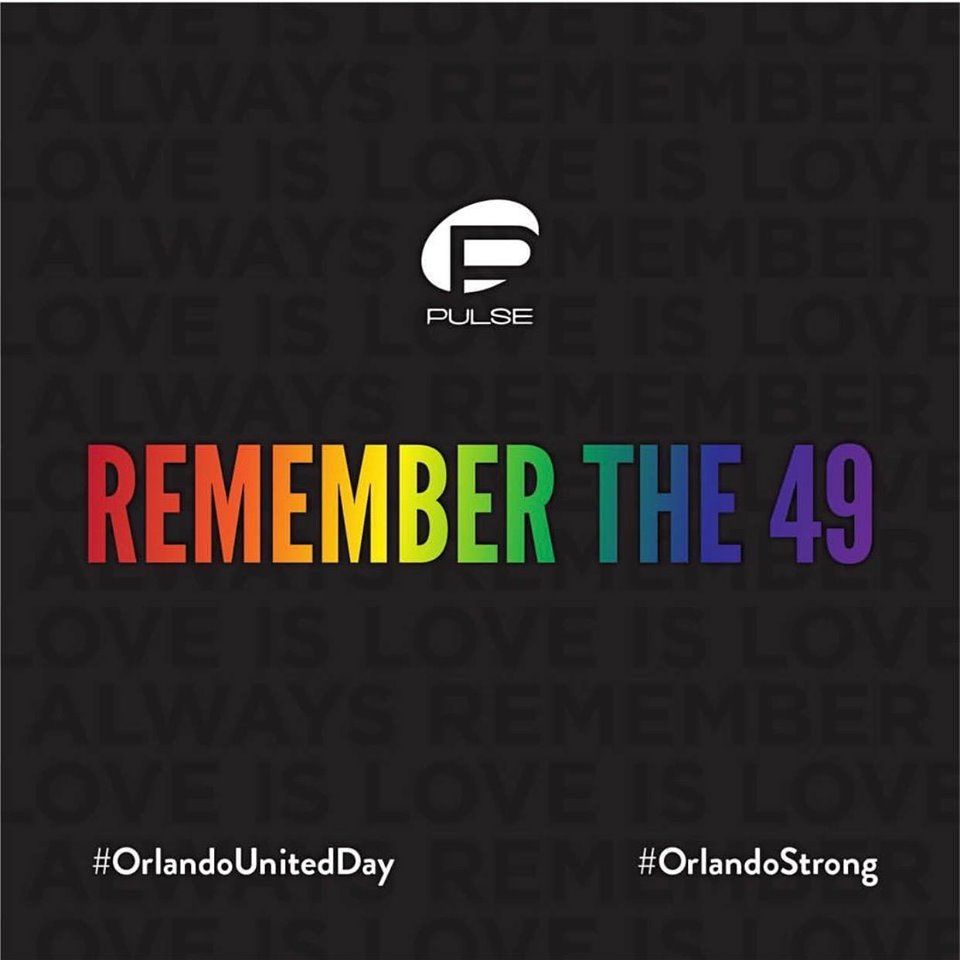 It's never easy but we must never forget the 49 who were lost 3 years ago today. Our hearts are with our friends and families on this day of remembrance.  #orlandostrong #orlandounited