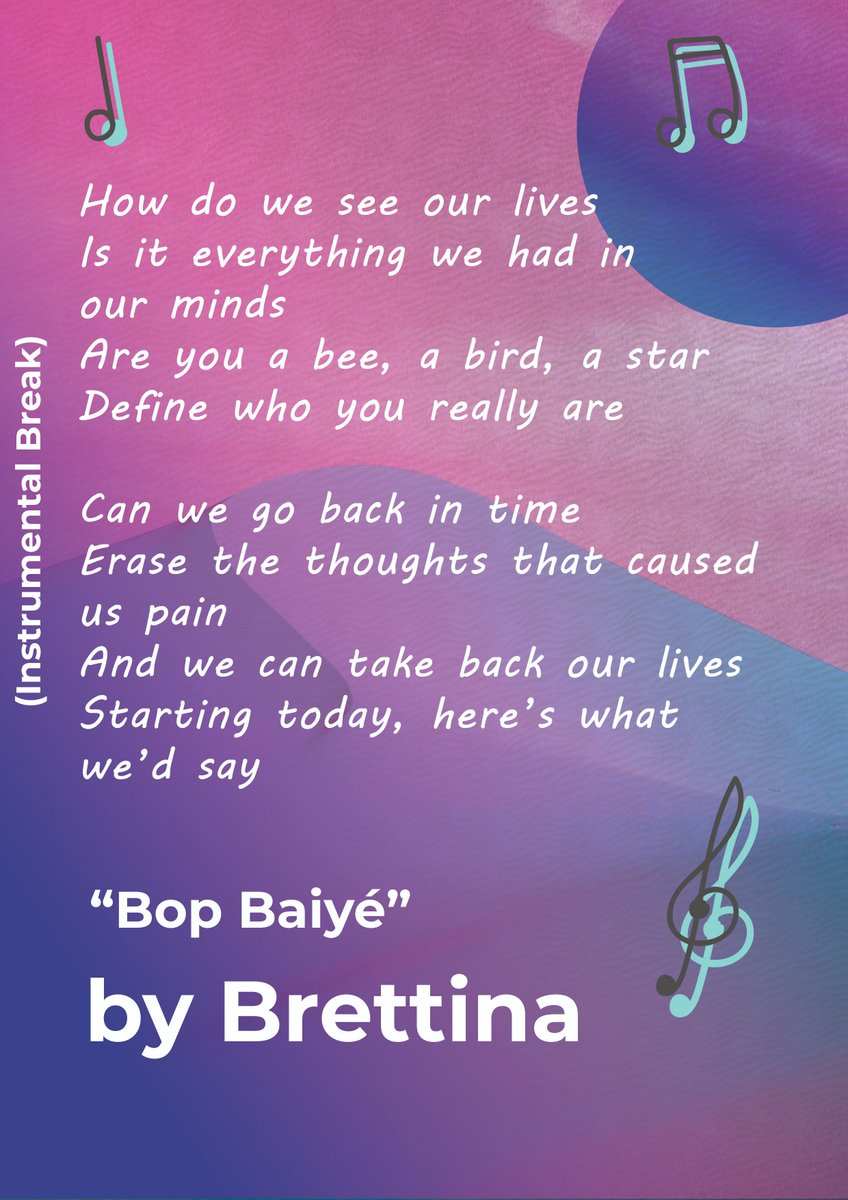 How do we see our lives Is it everything we had in our minds Are you a bee, a bird, a star Define who you really are... . Visit us : https://music.apple.com/us/artist/brettina/361989353 … . . . #brettina #bahabrettina #bopbaiye #newmusic #sophmorealbum #single #bahamas #success #vacation #love #music #tbt