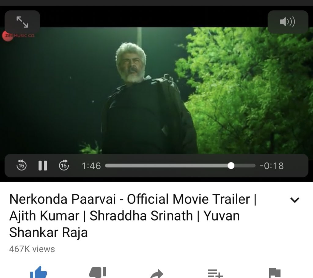 Wowww whata trailer  #NerkondaPaaravai chance eh illa  definitely gonna be a box office hit !   Best    #NerkondaPaaravaiTrailer #ThalaAjith <br>http://pic.twitter.com/IR2zK30piU