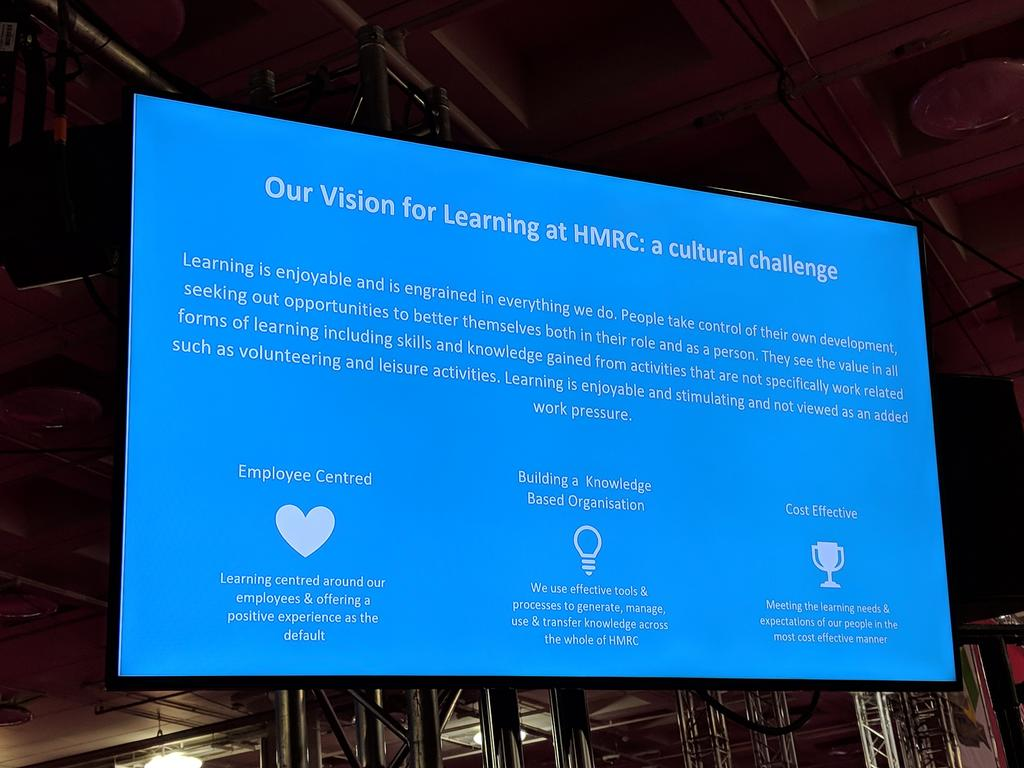 HMRC learning vision. Mmm, they are going to get better at collecting our taxes. Fair enough!#B6 #FestivalofWork