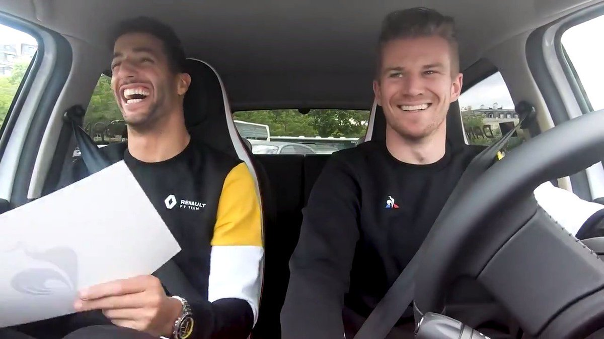 Drive through Paris in the new Renault Twingo LCS, from the @BellRossWatches boutique to the @lecoqsportif shop with no GPS and against the clock. Did they do it? Full video out on Friday!   #RSspirit @HulkHulkenberg @danielricciardo @RenaultSport
