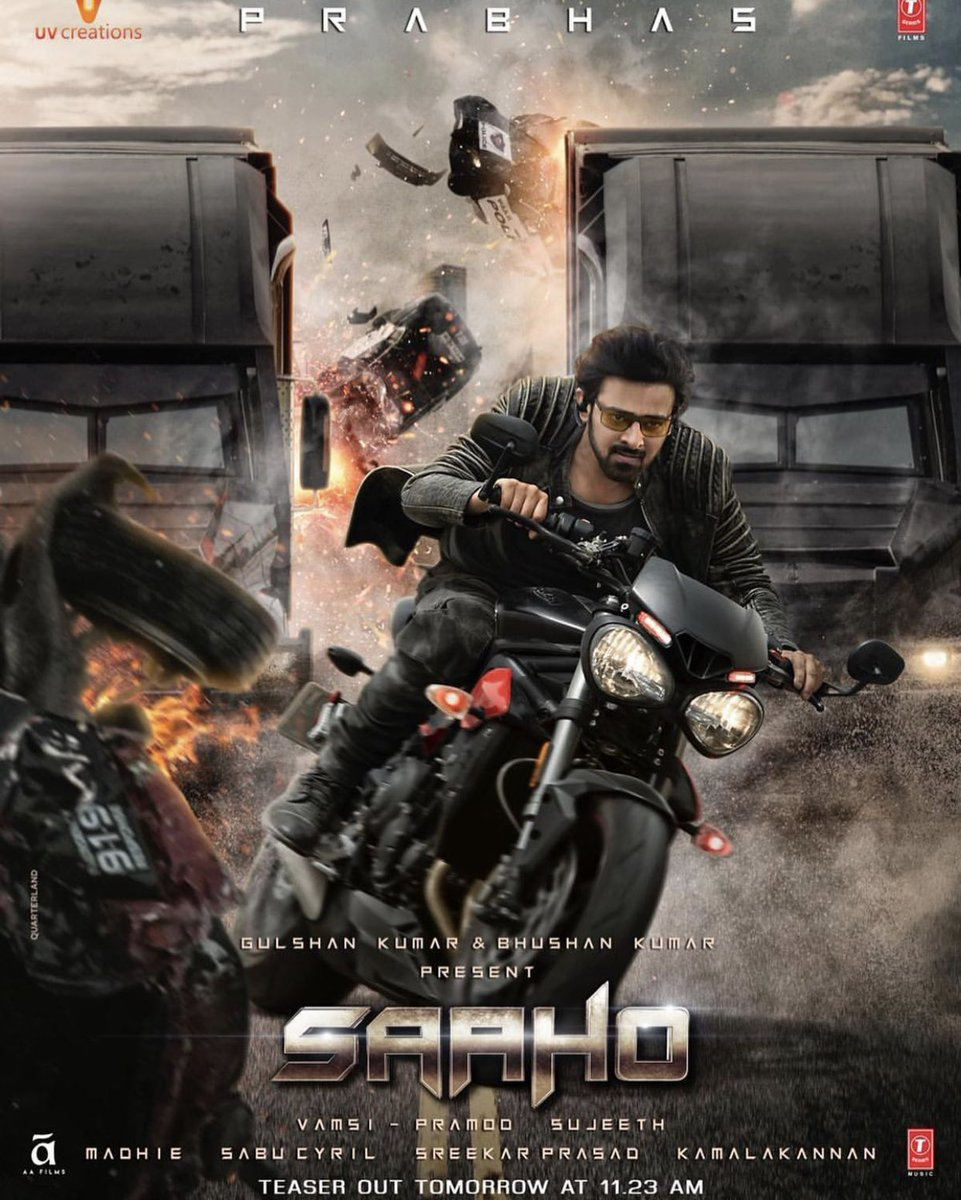 #Prabhas is looking like a total badass in the latest poster of #Saaho.<br>http://pic.twitter.com/CoM1Ow1NGi
