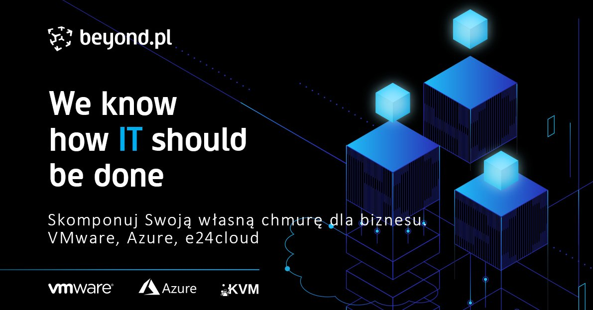 At #beyondpl we offer unlimited flexibility in choosing the optimal solution: ☑️ three virtualization technologies, ☑️ three deployment models, ☑️ integration with global cloud infrastructure.  Build your own #cloud with us! More information ➡️ https://t.co/svOoLt7HUY https://t.co/mqdiebZs75