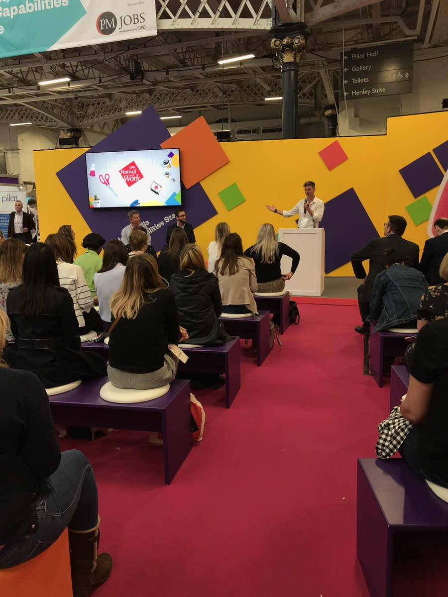 Our @OracleHCM session with @coopuk and @TurningPointUK off to a flying start with a full house on the Talent, Skills and Capabilities Stage #CIPD @FestivalofWork