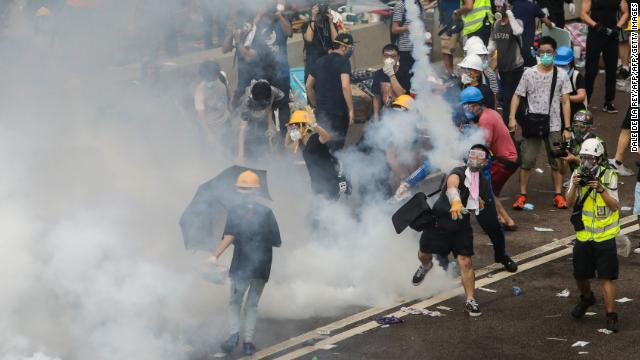 A public health spokesperson says 22 people have been treated for injuries in Hong Kong protests, as of 6 p.m. local time. Follow live updates: https://cnn.it/2KkBZDF