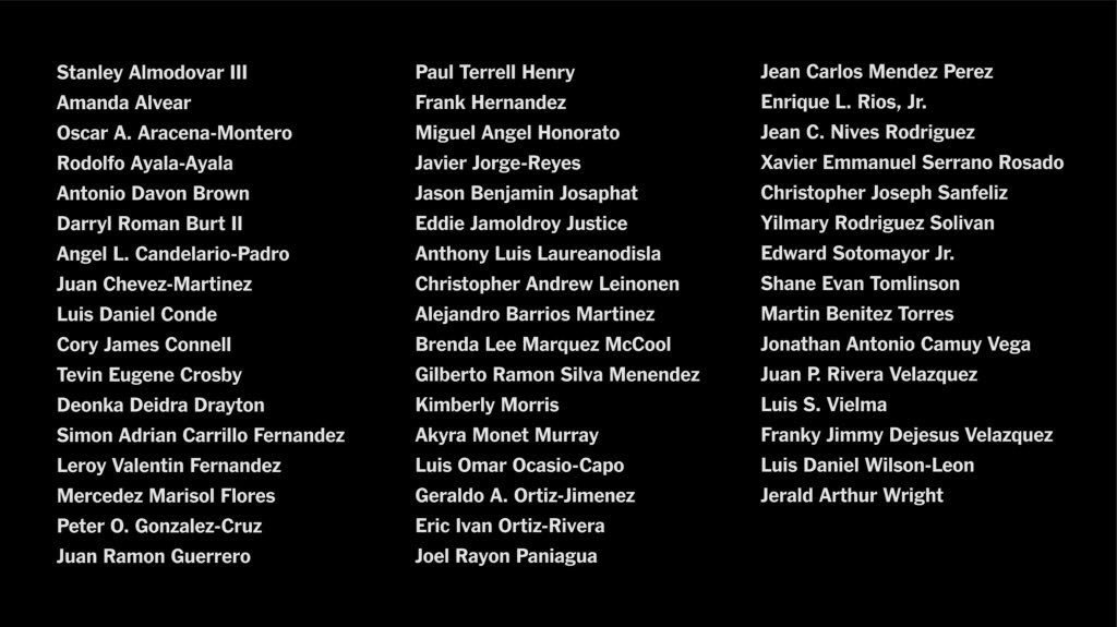 Today we mourn, honor, and celebrate the 49 individuals who lost their lives at the Pulse nightclub in Orlando three years ago. We love and cherish your memories this month, today, and everyday. #SayTheirNames #OrlandoStrong
