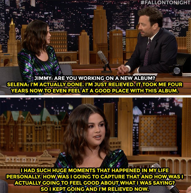 .@selenagomez on her first album in four years https://www.youtube.com/watch?v=CkGi8Wdv-MA …