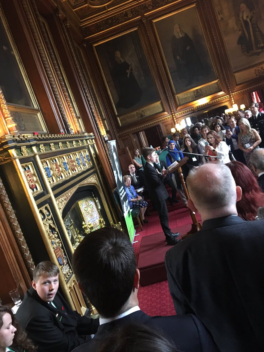 Wonderful event at Speaker's House to mark what would have been Anne Frank's 90th birthday. Speeches frm brilliant students, SoS @mhclg @JBrokenshire & more paying tribute to exceptional young girl whose diary had immeasurable impact. @AnneFrankTrust @HolocaustUK #IStandWithAnne <br>http://pic.twitter.com/4SmCXddl1D