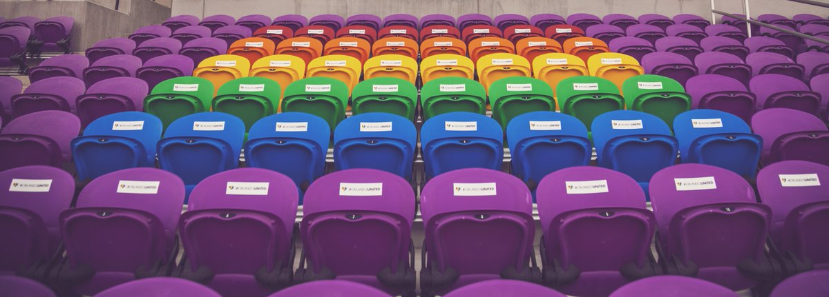 Exploria Stadium is open today to remember the 49 at our 🌈 seats. #OrlandoUnited  ➔ 11:00 a.m. to 2:00 p.m. ➔ Entry will be through Gate E.➔ Clear bag policy in effect.