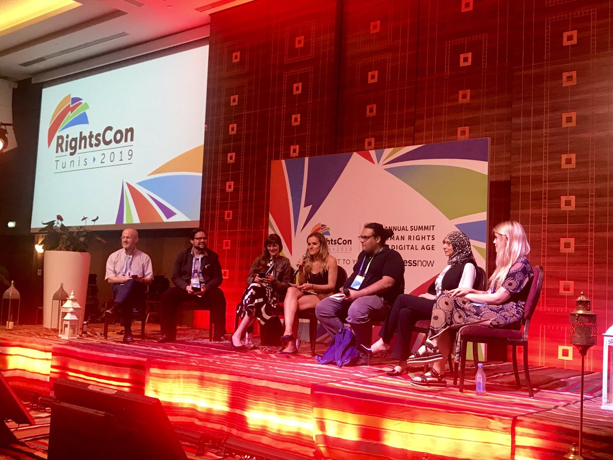 "I have been living for this panel for months!!!!  ""If you say blockchain one more time I'll f*ing scream"" -  live now at #rightscon. 🔥🔥🔥🔥"