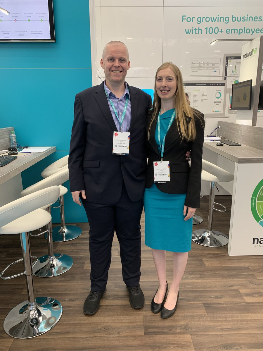 Looks like Natural HRs CEO, @jasondowzell and COO, @SarahDowzell are enjoying themselves at the @FestivalofWork! 😃 In search for #HRSoftware and fancy being greeted with a smile like this? Then come and meet the team over on stand C100! #HR #FestivalOfWork