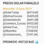 Image for the Tweet beginning: Dólar paralelo hoy Miercoles 12