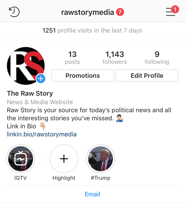 Missing @RawStory on Facebook? Follow us on Instagram where you can now get our latest stories: instagram.com/rawstorymedia/ #WednesdayWisdom #meltwatersummit