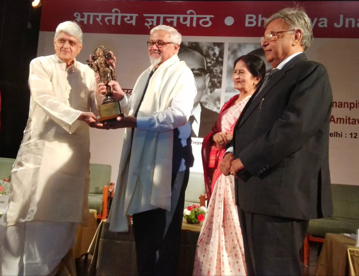 Noted English writer Amitav Ghosh conferred Jnanpith award