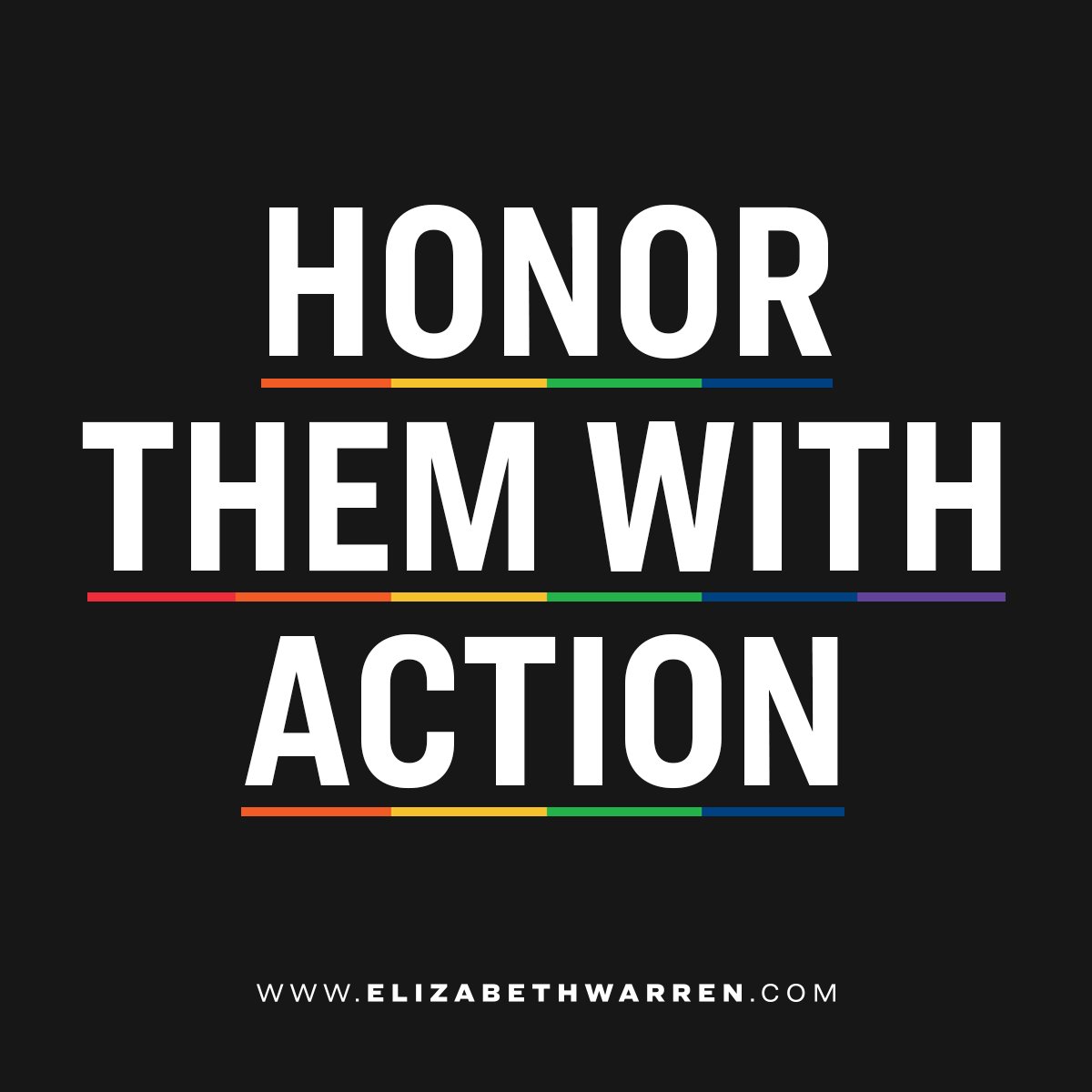 @ewarren's photo on #HonorThemWithAction