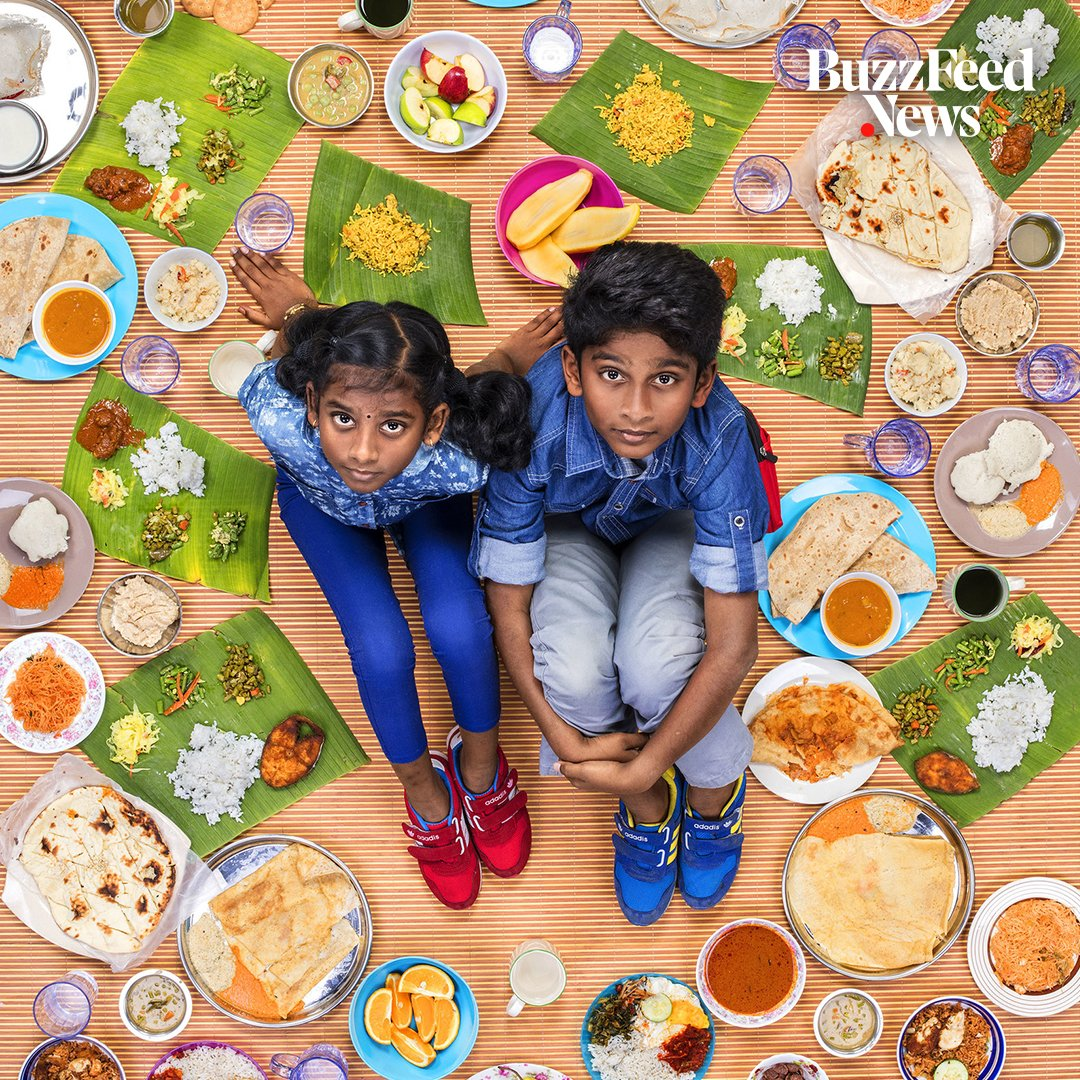 This photographer takes pictures of what kids eat around the world every day 🌏🍕