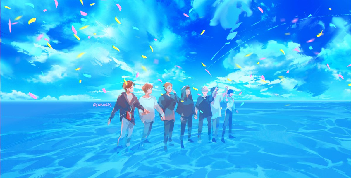 In this endless sea... What a relief that we are seven. What a relief that we have each other. #2019BTSFESTA #6YearsWithOurHomeBTS