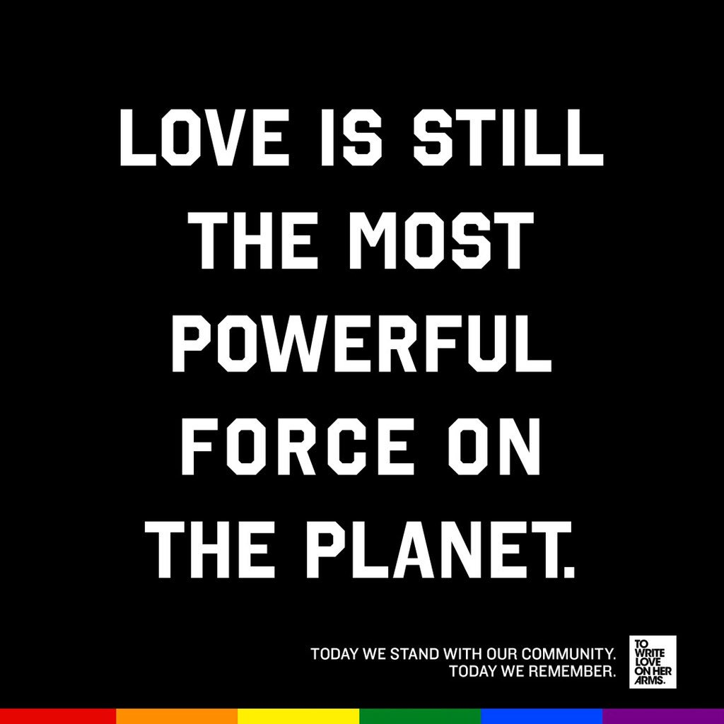 Three years ago, 49 vibrant lives were lost in the #Pulse tragedy in Central Florida, the place TWLOHA calls home. As we stand with Orlando and the LGBTQ community, today and all days, we acknowledge that your pain doesn't have an expiration date and healing takes time.