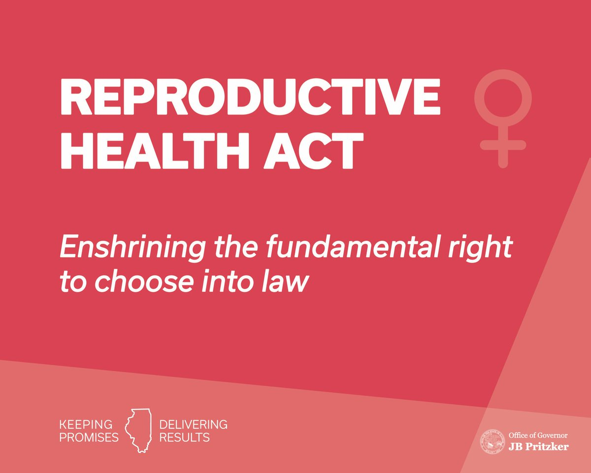@GovPritzker's photo on Reproductive Health Act