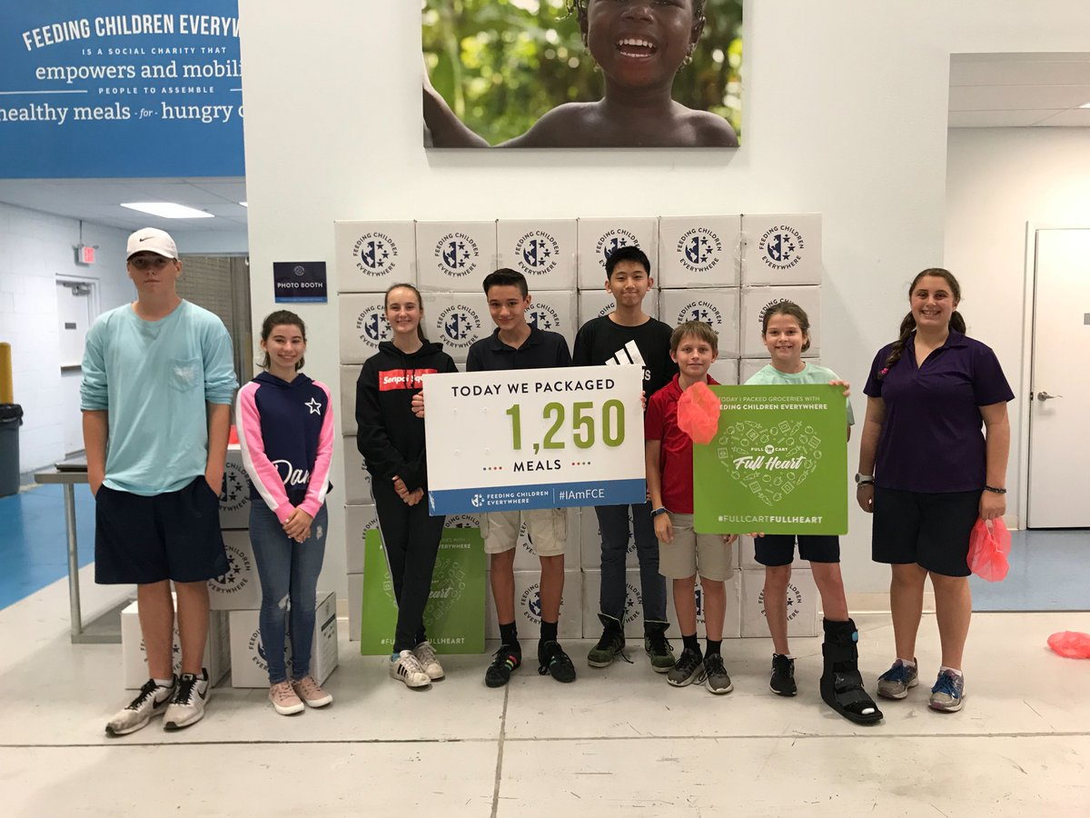 A HUGE shoutout to these young Hunger Heroes at Tuskawilla Montessori Academy that packaged 1,250 meals! The future looks a little brighter because of them!