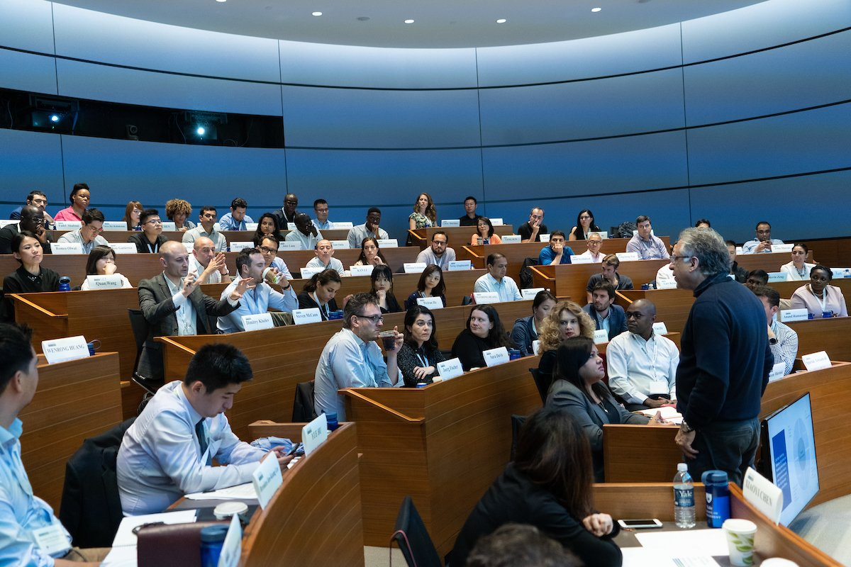"""Scenes from #GNW2019: On Tuesday, EMBA students spent the afternoon with Prof. Ravi Dhar learning """"Framing Brand Value and Drivers of Consumer Choice."""""""