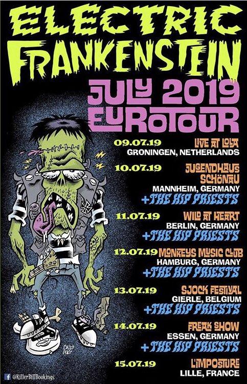 Just a few weeks away! @thehippriests @efpunk @Sjockfest #electricfrankenstein