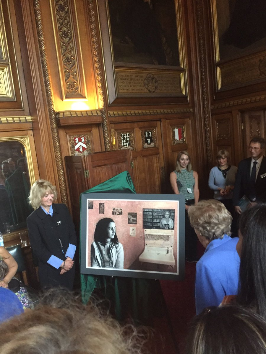Thank you to @AnneFrankTrust for inviting me to a very special event at the Houses of Parliament today #IStandWithAnne <br>http://pic.twitter.com/HPcwQwuQOp