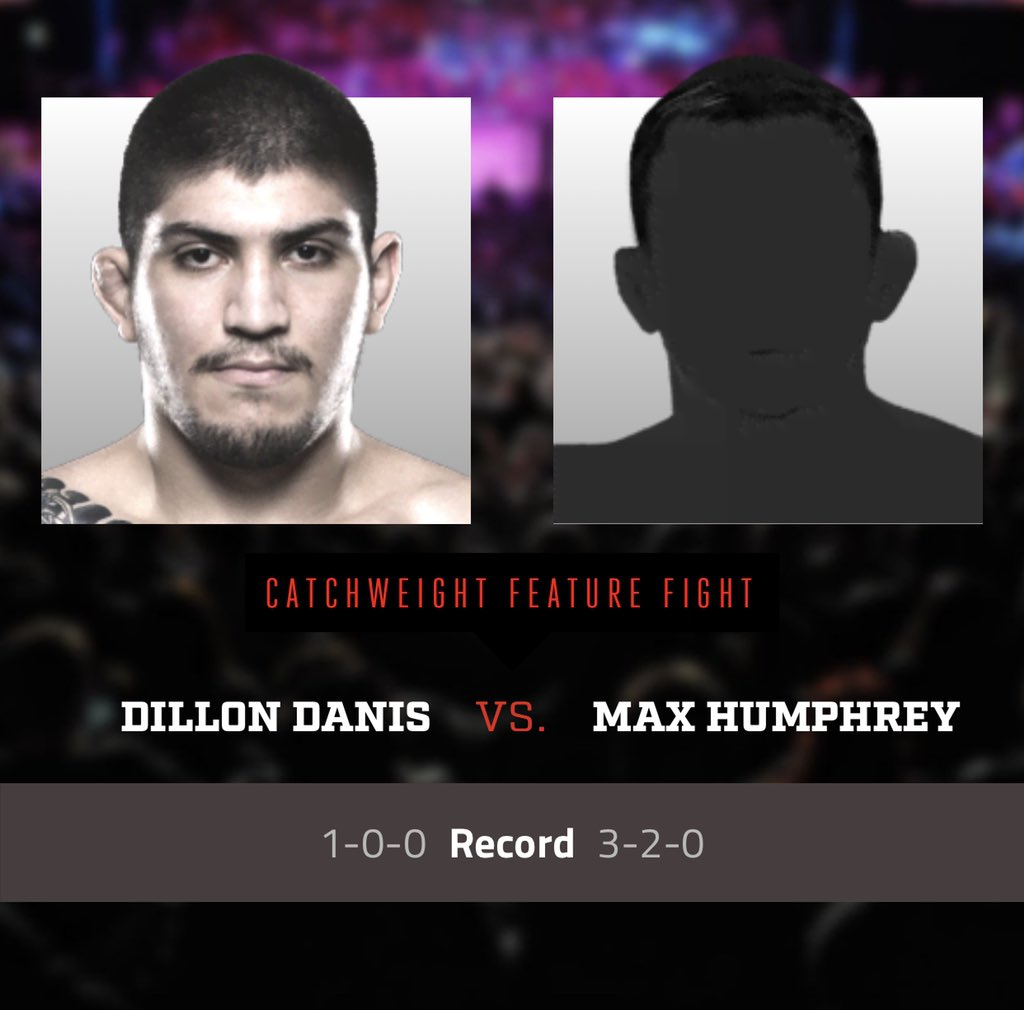 Wow @dillondanis 1-0 has a big challenge coming fighting Max Humphrey 3-2 Dillon taking over @BellatorMMA 🤡🤔 #Bellator222 @arielhelwani #helwanishow