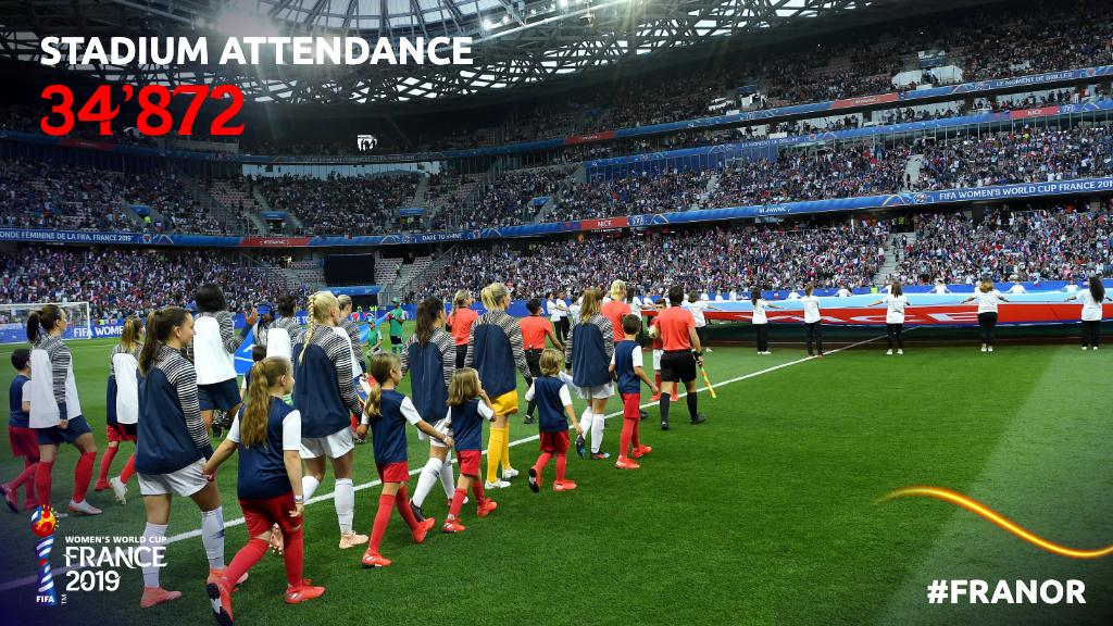 Thank you for the incredible atmosphere, fans!   #FRANOR | #FIFAWWC<br>http://pic.twitter.com/Clw4sm1ga5