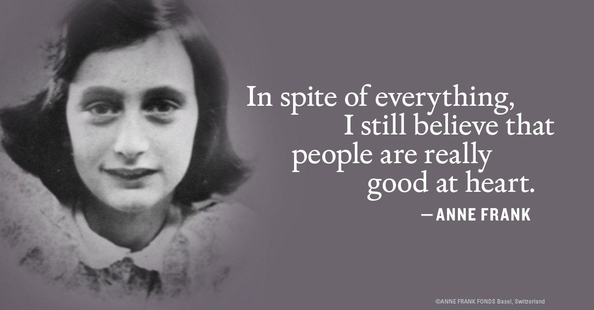 How has #AnneFrank inspired you? Help us commemorate what would have been her 90th birthday by sharing your reflections. #Anne90