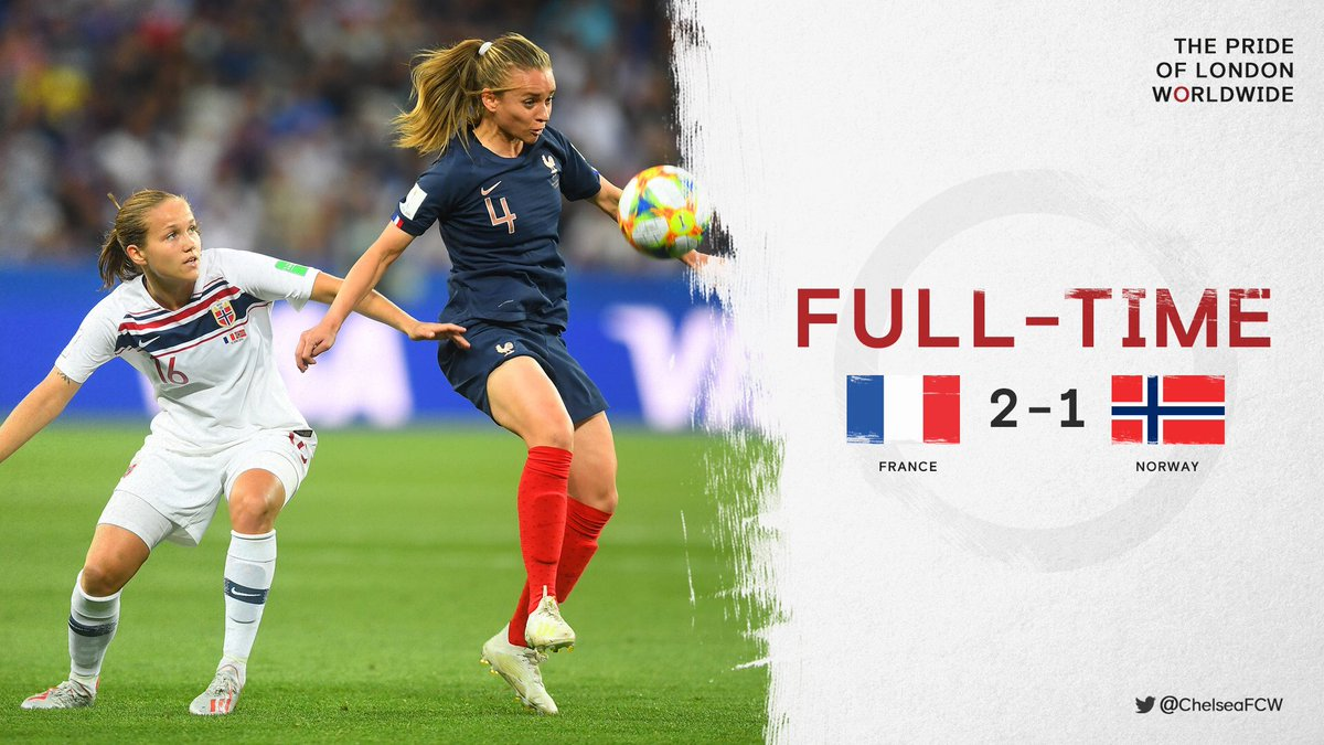 Matchday two ends in defeat for #NOR   #FRANOR #FIFAWWC<br>http://pic.twitter.com/6lpuuQqQ9E