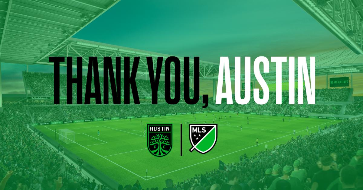 #AustinFC sets @MLS record with largest number of season ticket membership deposits secured in a single day. #GrowTheLegend Read more: https://austinfc.com/#news