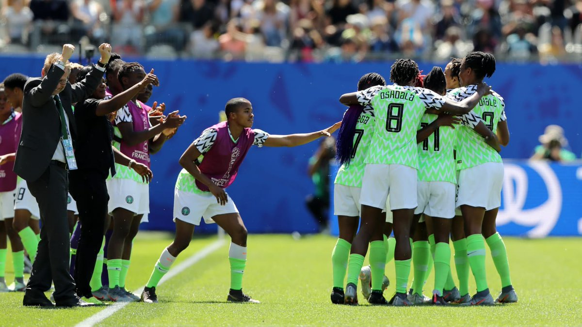 The Super Falcons defeats South Korea 2-0 to keep alive their hopes of progressing to the knockout rounds of the FIFA Women's World Cup!   #SuperFalcons #blueprintafric<br>http://pic.twitter.com/fJWGqQDGD5