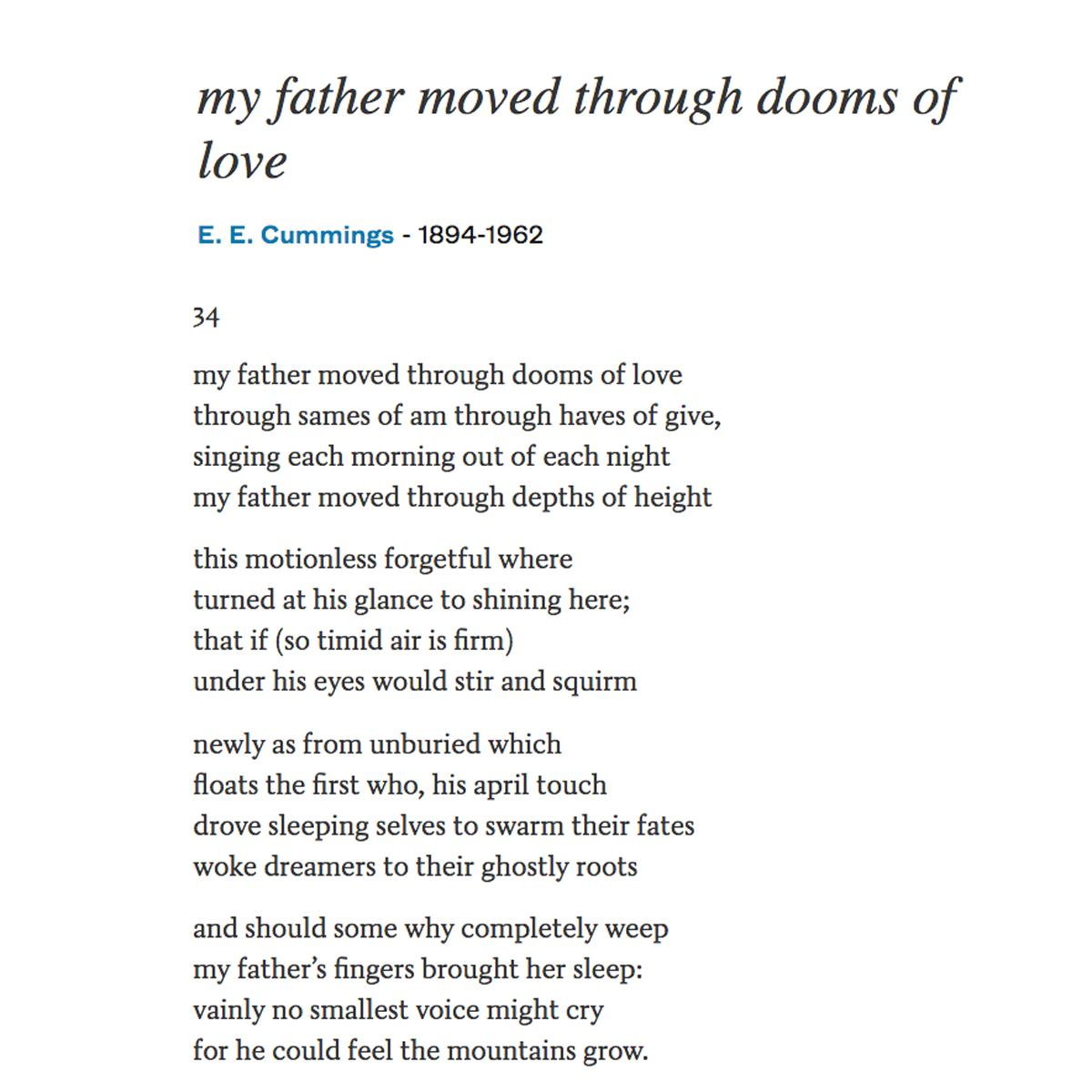 Poetsorg On Twitter My Father Moved Through Theys Of We