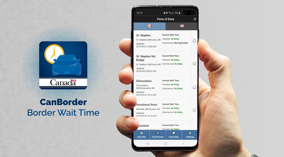 #WisdomWednesday Download the CanBorder – Border Wait Time app on your phone to look for the least busy land port of entry!   http:// ow.ly/zPU450ur1rg    <br>http://pic.twitter.com/JrhioJIHIy