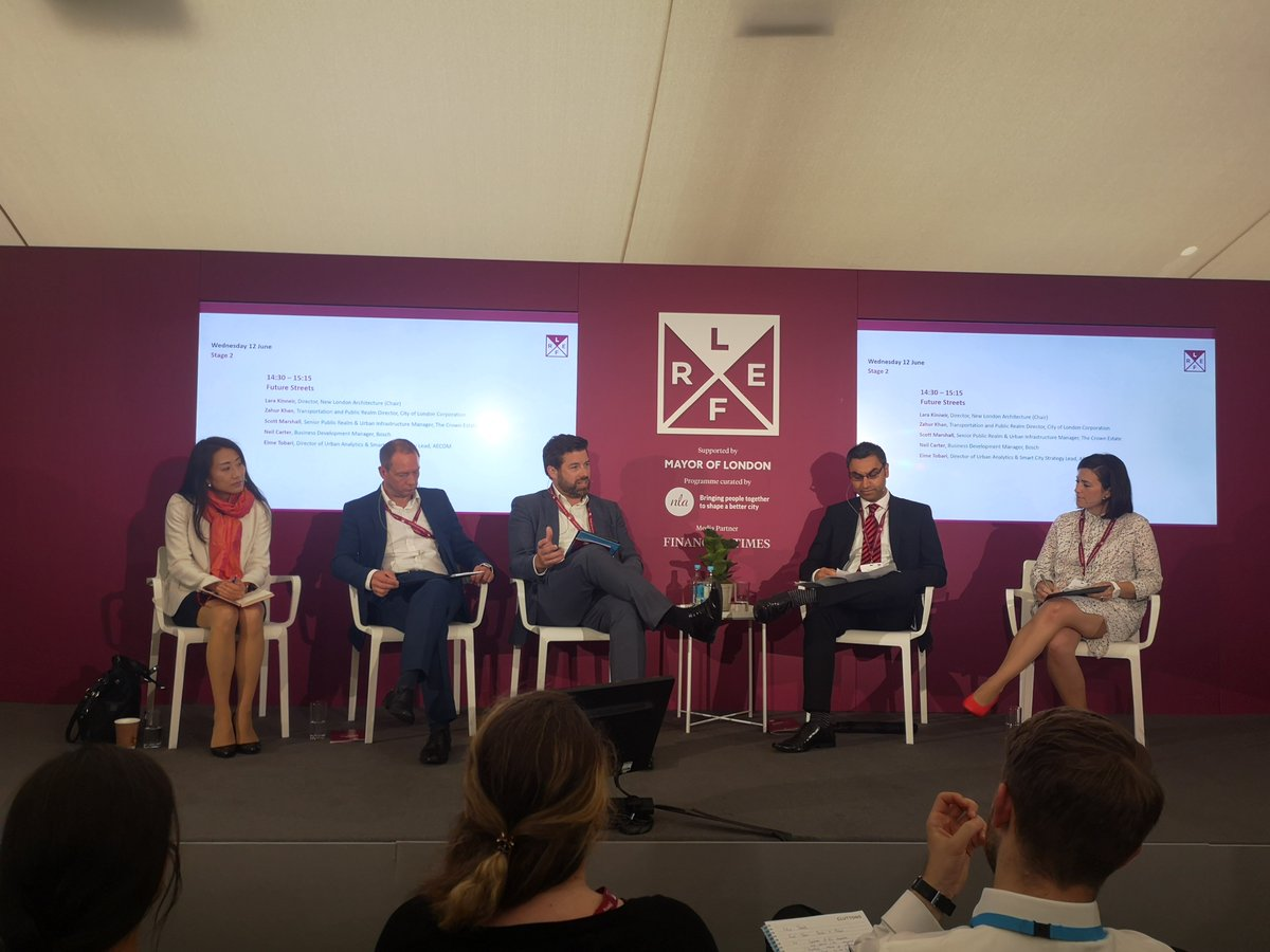 RT @TheCrownEstate Over at the 'Future Streets' stage, our Senior Public Realm Manager, Scott Marshall, talks about how long-term thinking and investment in public realm can create places that bring delight and benefit all who live, visit and work in Westminster. #LREF2019