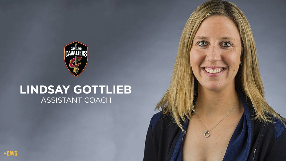 OFFICIAL: Cavs hire Lindsay Gottlieb as Assistant Coach. DETAILS: http://on.nba.com/2F5xatw #BeTheFight