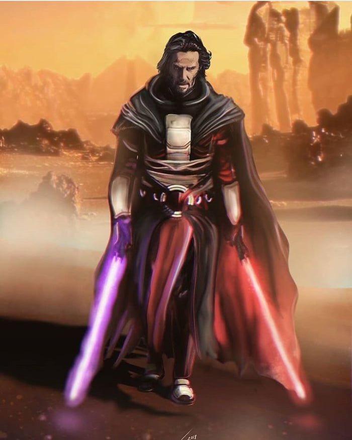 Keanu Reeves as Revan.   Do want.   #Art #FanArt #StarWars #StarWarsFanArt