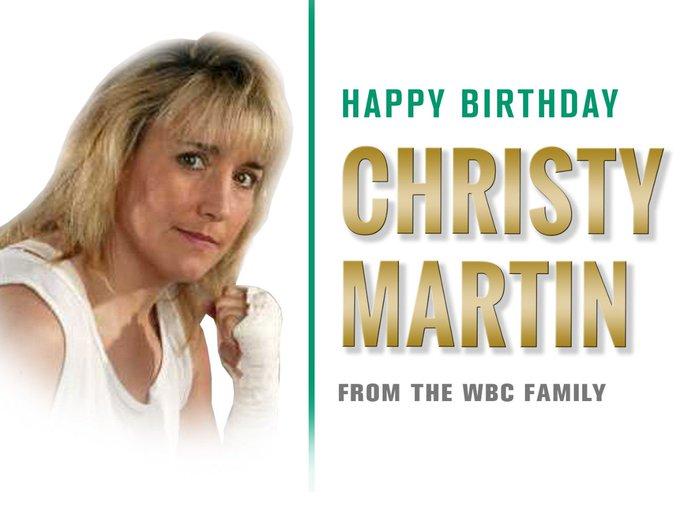Happy birthday, legend !!!  Christy Martin; proud female boxing pioneer !!